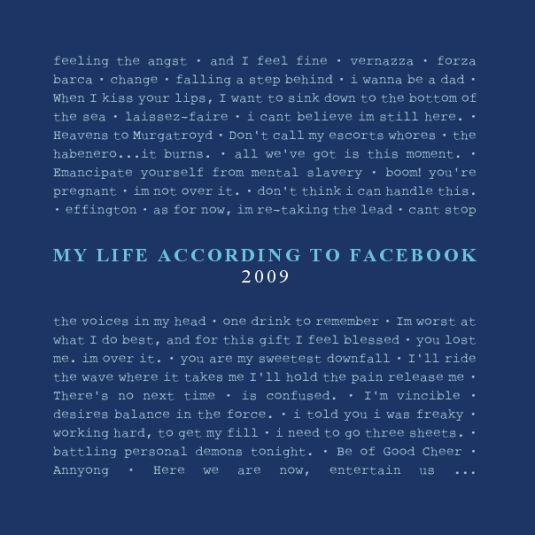 mylifeaccordingtofacebook2009